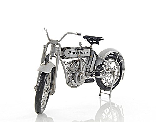 Model 7D Twin 1911 Motorcycle Metal Model 12.5'' Automotive Decor by Nautical Home Decoration