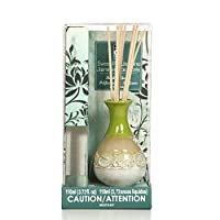 Aromatherapy Hosley's Highly Scented, Sweet Pea Jasmine, Diffuser Oil with Ceramic Bottle Plus Reed sticks.- 110ml BULK BUY. Ideal GIFT for party favor, weddings, spa, Reiki, Meditation, Bathrooms