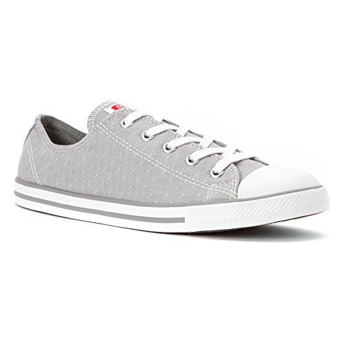 Converse Womens Chuck Taylor Dainty Chambray Low Top Sneaker Dolphin Grey 6 M