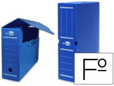 Liderpapel - Caja archivo definitivo plastico azul tamaño 36x26x10 cm (5 unidades)