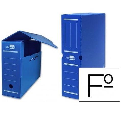 Liderpapel - Caja archivo definitivo plastico azul tamaño 36x26x10 cm (5 unidades): Amazon.es: Oficina y papelería