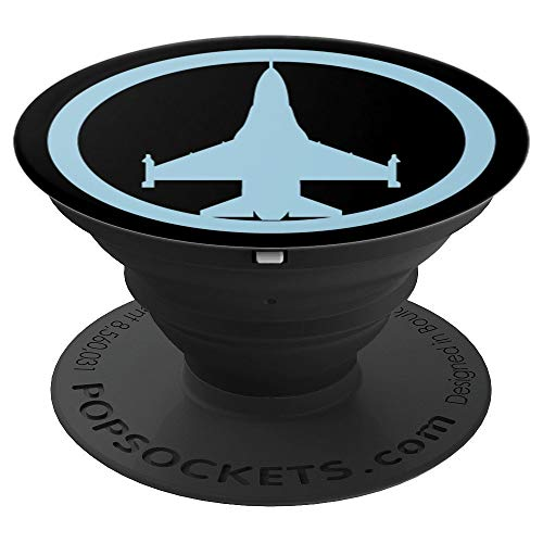 F-16 Pilots - F-16 Falcon (Blue) Air Force Military Pilot Jet Smartphone - PopSockets Grip and Stand for Phones and Tablets