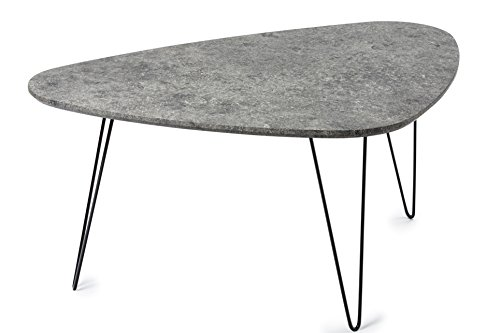 Saratoga Coffee Table with Faux Cement Top (End Cement Table Top)