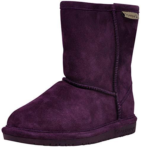 Teen Titans Raven Feet (BEARPAW 608Y-663-M040 Kids' Emma Cow Suede Deep Purple Leather Winter Boot, 6.5