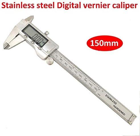 MTCWD Digital Vernier Caliper Dial Callipers Stainless Steel Caliper Digital Vernier Caliper 0-150Mm Digital Display Electronic Ruler (Size : A)