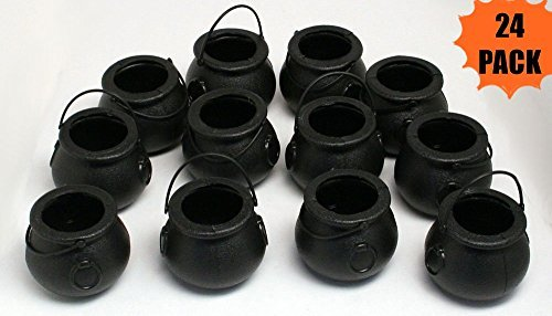 (24 Mini Cauldron Kettles Cups - Halloween Toy by happy deals)