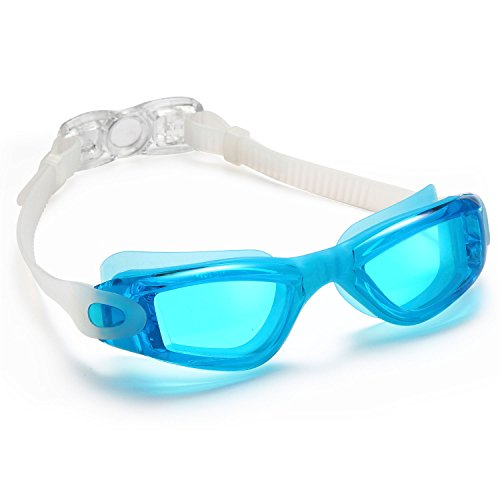 Siren Anti-Fog Adult Swimming Goggles with Nose Clip and Ear Plugs in Protective Case