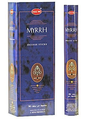 Myrrh - Box of Six 20 Gram Tubes - HEM Incense - incensecentral.us