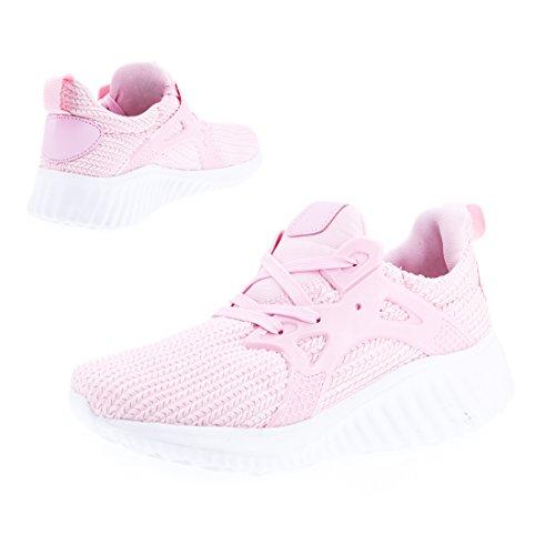 Damen Pink Marimo Trendige Laufschuhe Sport Fitness Sneaker Turnschuhe Schnür 75a8qgwa