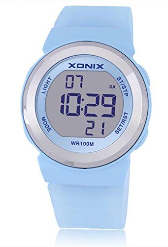XONIX Women Sports 100M Waterproof Girls Jelly Candy LED Digital Watch Swimming Diving Clock (Jelly Clock)