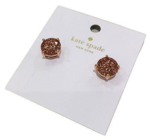 Kate Spade New York Rose Gold Glitter Stud Earrings - Kate Spade Gold Rose