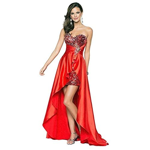 Nice Eyekepper Ladies Beaded Front Short Long Back Prom Evening Gown Party Dress free shipping