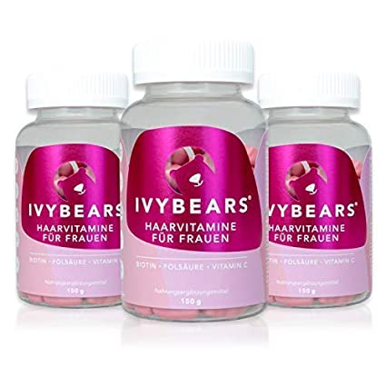 ivybears | Hair multi-vitamins | pelo vitaminas | Biotina, folic Acid, pelo
