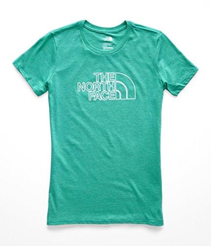The North Face Women's 1/2 Dome Tri-Blend Crew Tee Kokomo Green Heather/Silver Foil X-Small ()
