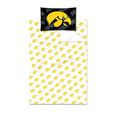 Northwest Iowa Hawkeyes Twin Sheet Set W/Pillow ()