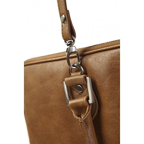 Sacoche Cuir 19twenty8 Tan pour MacBook Air /& Pro 15`` Golden Tan