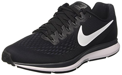 - Nike Men's Air Zoom Pegasus 34 Black/White/Dark Grey/Anthracite Running Shoe (10.5 D US)