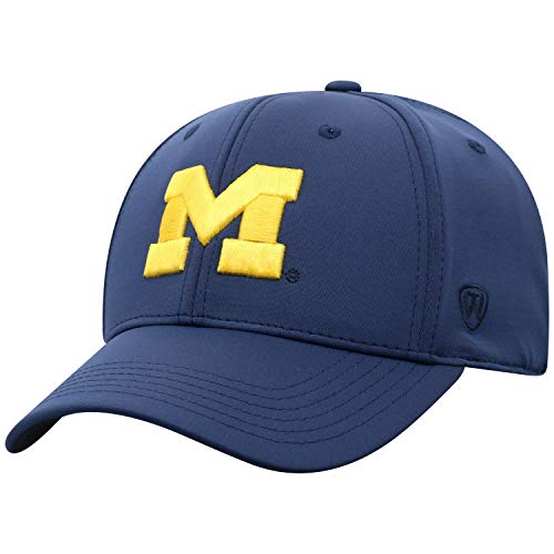 - Top of the World NCAA Michigan Wolverines Men's One Fit Phenom Team Icon Hat, Navy