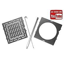 "Folding Firebox 5"" Accessory Kit (Boil Plate, Grill Plate, 2 Fire Sticks)"