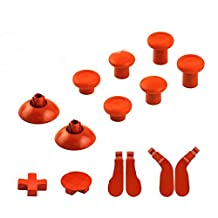 Gotor Xbox One Full Set Replacement Part (14 pcs) 6 Swap thumbsticks & 2 D-pads & 4 Hair Trigger Locks for Xbox One Elite Wireless Controllers Color Orange