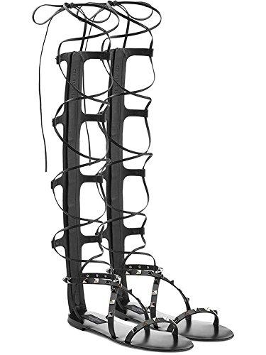 Guoar - Tira de tobillo Mujer Schwarz/Niete