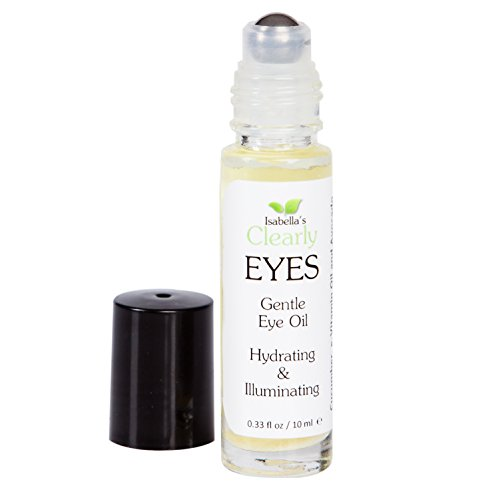 Isabella's Clearly EYES. All Natural Eye Serum to Hydrate, Illuminate, Firm. Anti Aging Oil reduces fine lines, dark circles, under eye puffiness. All Natural w/Avocado, Coconut, Vitamin E. 0.3 Oz (Eye Cream Roller Ball)