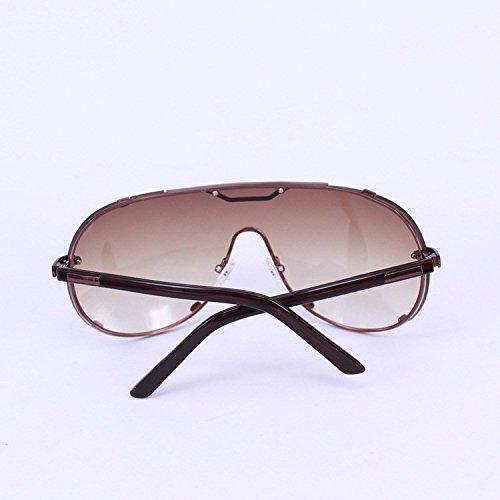 de de Marrón Shop lentes sol sol sol Marco de para grandes mujeres gafas sol gafas de conducción metal 6 Té y Gafas de hombres de Gafas TxSrvqFT