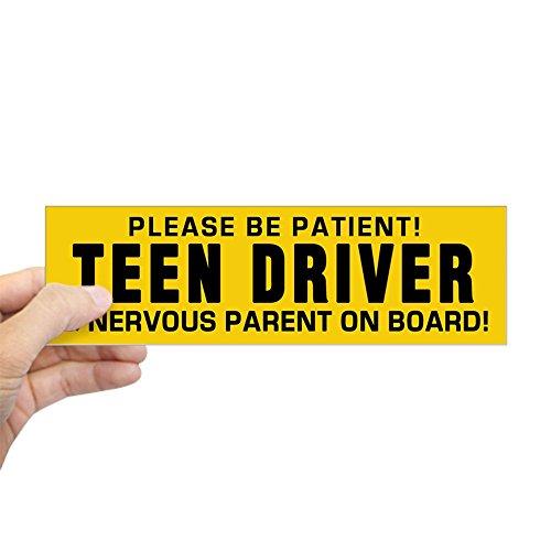 CafePress - Teen Driver And Parent (Bumper) Bumper Sticker - 10