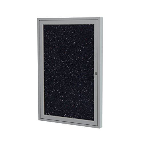 Ghent Enclosed Recycled Rubber Tackboard - 24X36