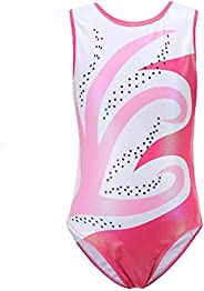 Valcatch Gymnastics Leotard for Girls - Sleeveless Sparkle Gradient Color Ballet Dance Outfit Age 5-14 Years