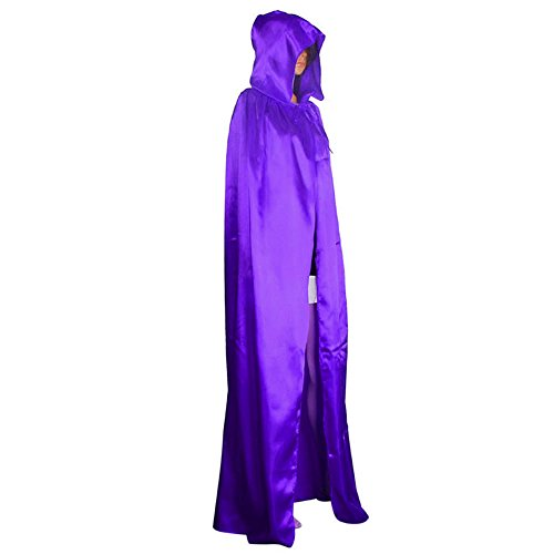 Clearance Sale!Toimoth Hooded Cloak Coat Wicca Robe Medieval Cape Shawl Halloween Party (Purple,L)