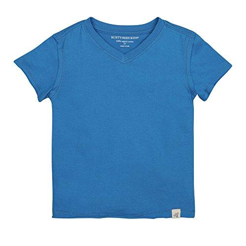 Burt's Bees Baby Boys' Organic Short Sleeve Reverse Seam V Neck Tee, Blue Jay, 6-9 - Reverse Cami