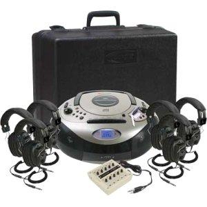 CALIFONE SPIRIT SD LISTENING CENTER W/ 6HEADPHONE VIA 1886PLC-6 by Califone