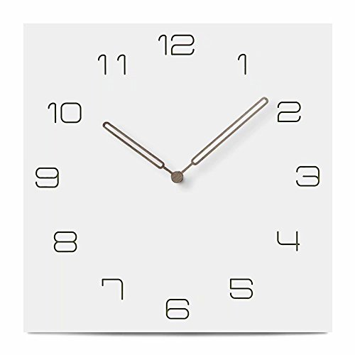 FlorLife Silent Wall Clock Movement White Vintage Wood 12-inches Unique Digital Quiet Sweep Decorative Wooden Clock No Ticking Sound by FlorLife