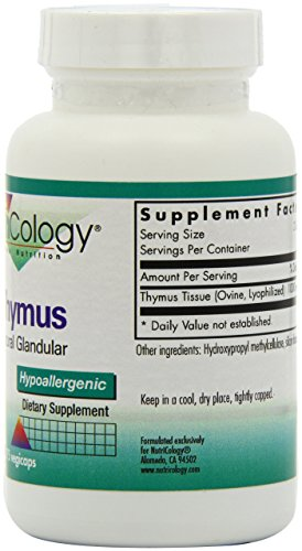 Nutricology Thymus, Vegicaps, 75-Count by Nutricology (Image #6)