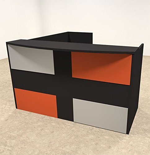 3pc L Shaped Modern Acrylic Panel Office Reception Desk, #OT-SUL-RM48 by UTM