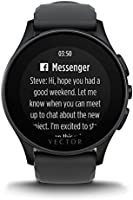 Vector L1-10-003 Luna - Smartwatch de silicio, color negro: Amazon ...