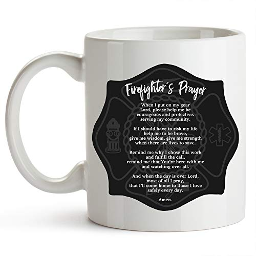 - Firefighter's Prayer Firefighter Cup 11 Ounce Firefighter Gifts For Men Fireman Gifts For Men Fireman's Prayer Mug