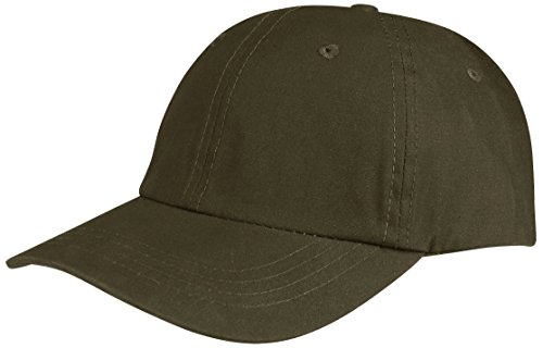 Juniper Low Profile (Unconstructed) Waxed Cotton Canvas Cap, One Size, Olive