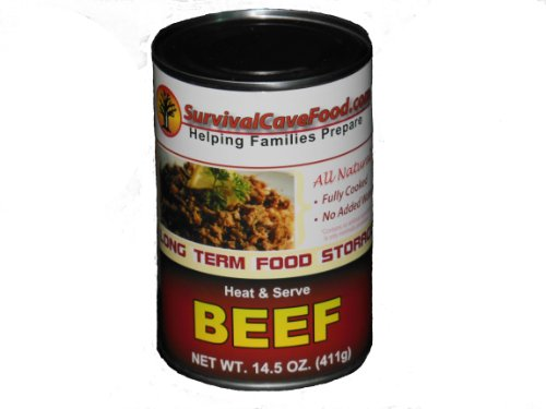 Low Ham Sodium (Survivalcavefood Beef - 14.5 oz can - 1 Can)