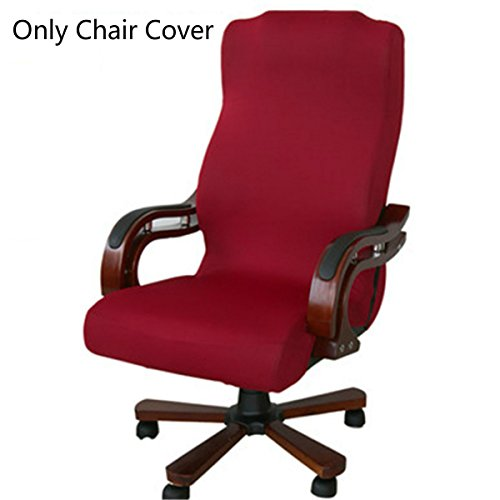 Medium Back Chair (Caveen Office Chair Cover Computer Chair Universal Boss Chair Cover Modern Simplism Style High Back Large Size (Chair not included) red medium)