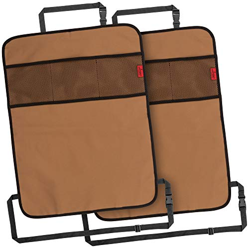 Buy Heavy Duty Kick Mats Back Seat Protector (2 Pack) - The Sag Proof, Waterproof, Odor Proof Car Ba...