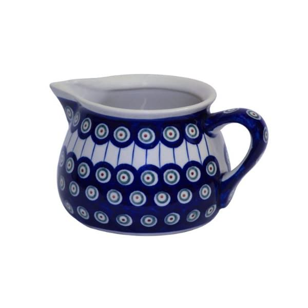 Boleslawiec Pottery Milk jug, 1.0 L, Original Bunzlauer Keramik, Decor 8