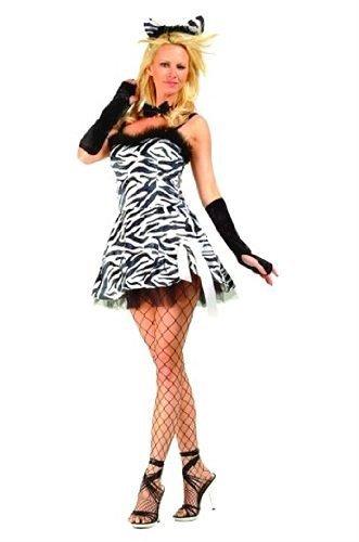 Zebra Sexy Costumes (Women SM (2-4) Blk/Wht- Sexy Zebra Babe (Petticoat Included))
