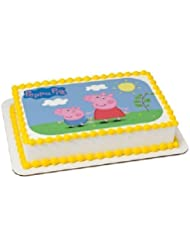 Whimsical Practicality Peppa Pig Edible Icing Image Cake Topper