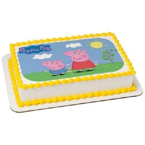 Whimsical Practicality Peppa Pig Edible Icing Image Cake ...