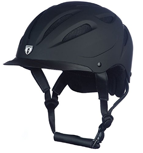 Tipperary Sportage Hybrid Western Riding Helmet Low Profile Horse Safety Black and Black (XL)