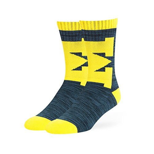 OTS NCAA Michigan Wolverines Ice Box Sport Socks, Large, Navy