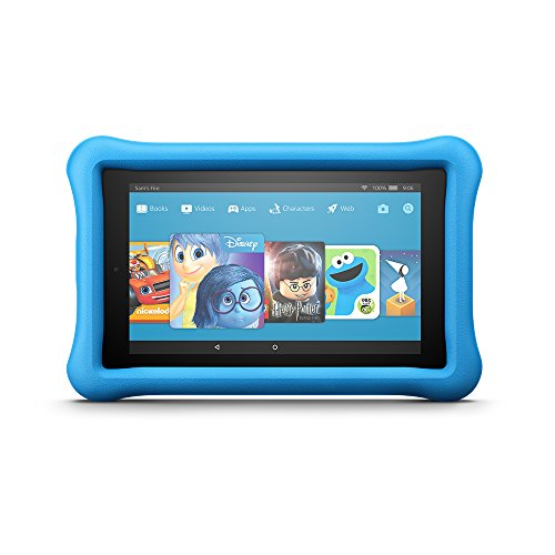 "Electronics : Fire 7 Kids Edition Tablet, 7"" Display, 16 GB, Blue Kid-Proof Case"