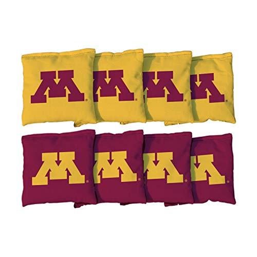 Victory Tailgate NCAA Regulation Cornhole Game Bag Set (8 Bags Included, Corn-Filled) - Minnesota Golden ()